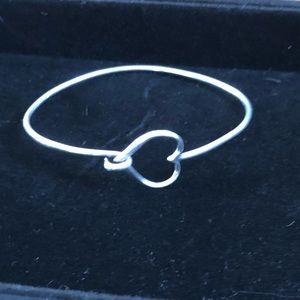 Jewelry - Sterling silver heart bangle bracelet